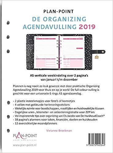 De Organizing Agendavulling 2019 A5: Verticale weekindeling ...
