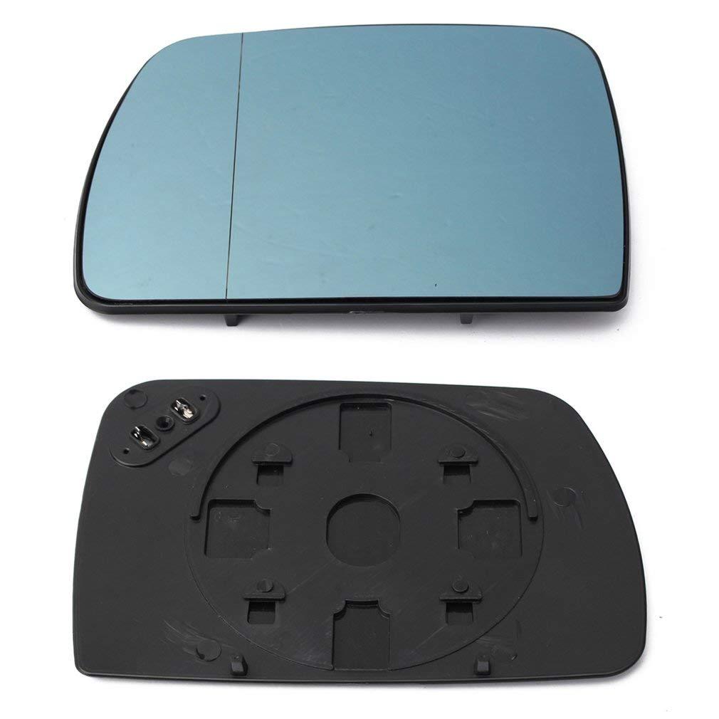 leoboone Blau Beheizbare Spiegelglas Weitwinkel-R/ück F/ür BMW X5 E53 00-06