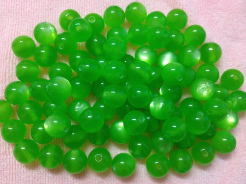 (50pc 12mm Green Imitation Cat Eye Resin Beads Beading Supplies [Office Product])