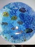 Hand painted Ceramic 15'' ocean and fish bowl or platter