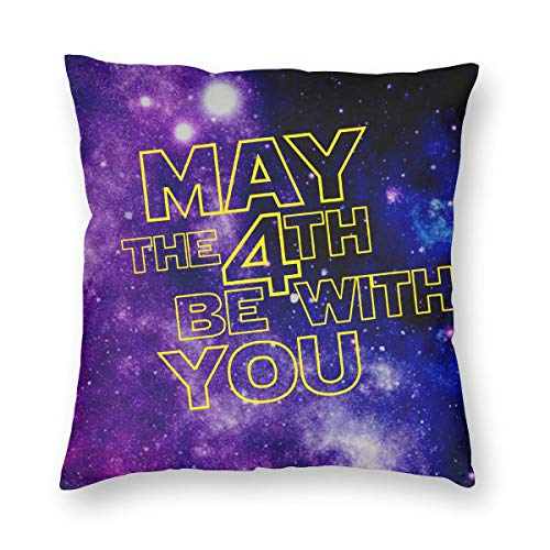 May The 4th Be With You Square Throw Pillowcases Cushion Case For Home Decor -
