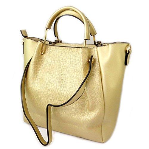 La bolsa 2 en 1 'Scarlett'de oro - 38x28x12 cm.
