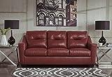 Kensbridge Contemporary Crimson Color 100% Leather Sofa Review