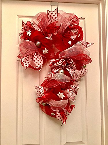 candy cane wreath candy cane deco mesh wreath christmas wreath whimsical wreath