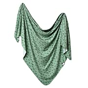 Large Premium Knit Baby Swaddle Receiving Blanket Poe by Copper Pearl