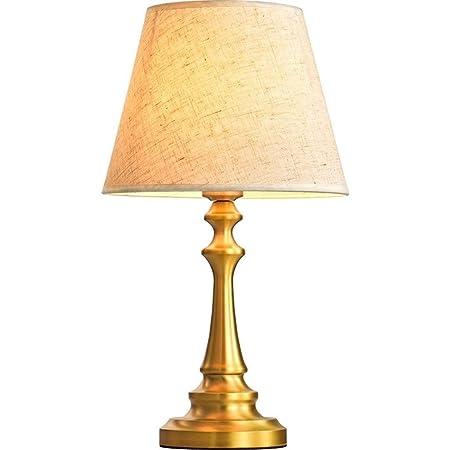 Lámpara de mesa moderna Lámpara de mesa de cobre dorado Lámpara de ...