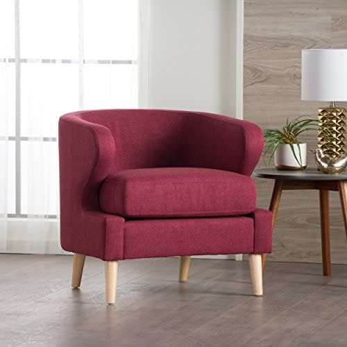 Christopher Knight Home 300709 Gianna Arm Chair, Deep Red
