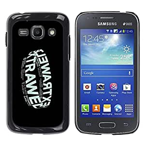 Shell-Star Arte & diseño plástico duro Fundas Cover Cubre Hard Case Cover para Samsung Galaxy Ace 3 III / GT-S7270 / GT-S7275 / GT-S7272 ( Electronic Music Band Black Poster )