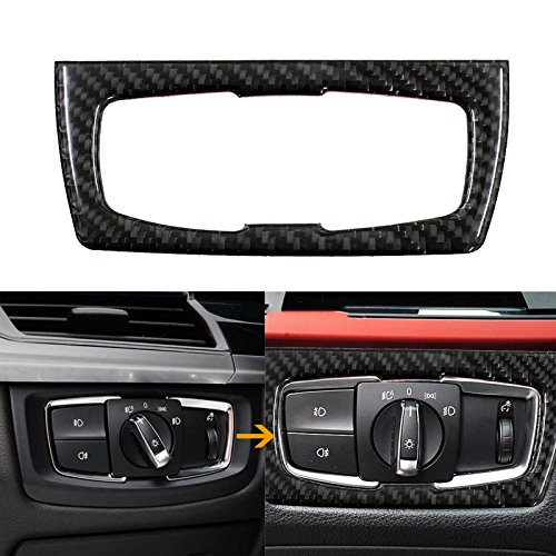 Xotic Tech 1X FULL SET INTERIOR TRIM COVER STICKERS REAL CARBON FIBER FOR BMW 3 4 SERIES by Xotic Tech (Image #4)
