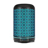 Metal Essential Oil Diffuser, Bligli 250ML Cool Mist Humidifier with 7 Color Night Lights, 4 Time Modes and Waterless Auto Shut-off, Handmade Metallic Craft Aroma Diffuser for Home Office Baby