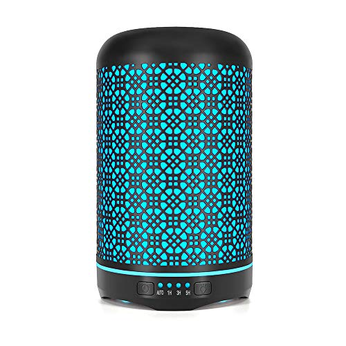 - Metal Essential Oil Diffuser, Bligli 250ML Cool Mist Humidifier with 7 Color Night Lights, 4 Time Modes and Waterless Auto Shut-off, Handmade Metallic Craft Aroma Diffuser for Home Office Baby