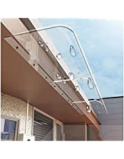 Door Window Canopy, Front Doors Window Polycarbonate Roofing Rain Shelter, Household Eaves Canopy Shelter Cover, Custom Size