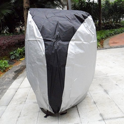 ATCG Bike Cover 190T Nylon Waterproof bicycle cover for Mountain Bike, Road Bike with Storage Bag Silver & Black (size: L) by ATCG (Image #3)