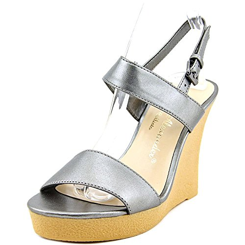 Athena Alexander Womens Beryl Open Toe Casual Platform, Pewter1046232, Size 7.0