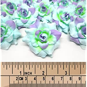 "(100) Silk Blue Purple Roses Flower Head - 1.75"" - Artificial Flowers Heads Fabric Floral Supplies Wholesale Lot for Wedding Flowers Accessories Make Bridal Hair Clips Headbands Dress 3"