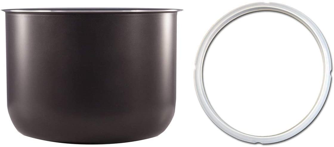 Non-Stick Cooking Pot and Pressure Ring Combo: Compatible with 8 Qt FARBERWARE Pressure Cooker WM80 and Crock-Pot Express Cooker SCCPPC800-V1. These are not created or sold by FARBERWARE or Crock-Pot