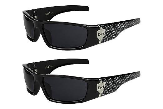 2er Pack Locs 9069 Choppers Old School Brille Sonnenbrille
