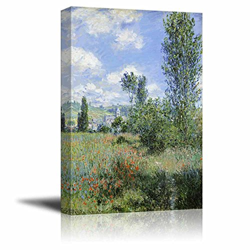View of V¨¦theuil by Claude Monet Print Famous Oil Painting Reproduction