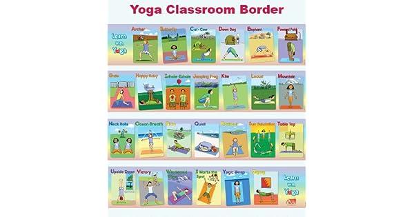 Amazon.com: Learn WIth Yoga ABC Yoga Classroom Border ...