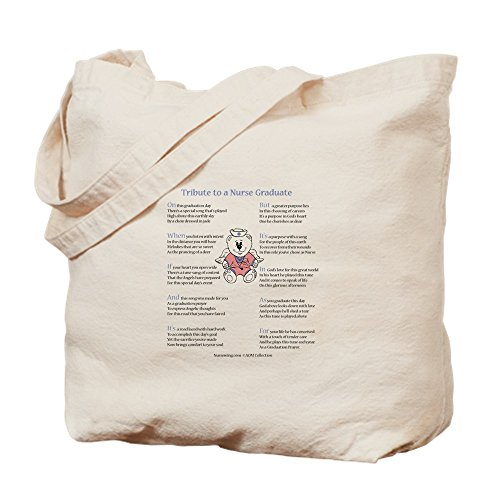 CafePress Tribute To A Nurse Graduate Natural Canvas Tote Bag, Cloth Shopping Bag