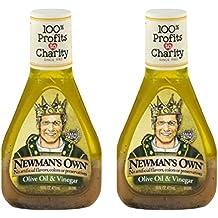 Newman's Own Olive Oil & Vinegar Dressing, 16 Oz (pack of 2)