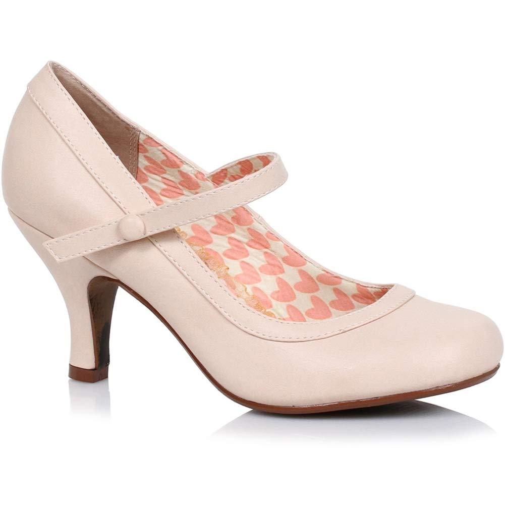 Bettie Page Shoes Womens Bettie Retro Mary Jane Heel Nude