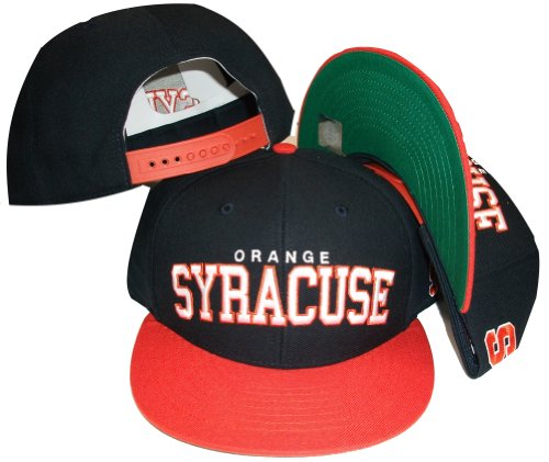 (Syracuse Orangemen Two Tone Navy/Orange Snapback Adjustable Plastic Snap Back Cap/Hat)