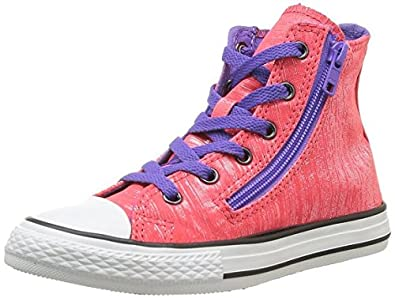 Converse Unisex Child Chuck Taylor All Star Double Rose Diva Violet ... c485a7921aa80