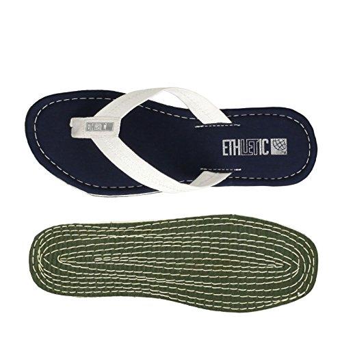 Ethletic Fair Flip Vegan Classic - Farbe Ocean Blue/Just White Aus Bio-Baumwolle