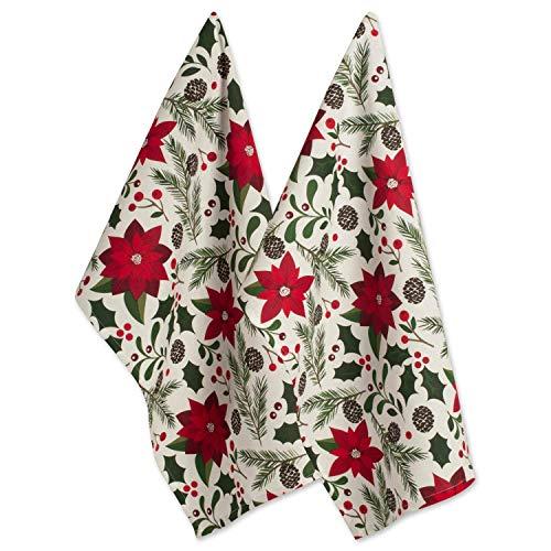 (DII 100% Cotton Christmas Dish Towel 18x28, Set of 2-Woodland, Dishtowel Set,)