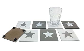 Itsisa® Untersetzer Set Stars 8er Set   Schöne Glasuntersetzer   Untersetzer  Für Gläser