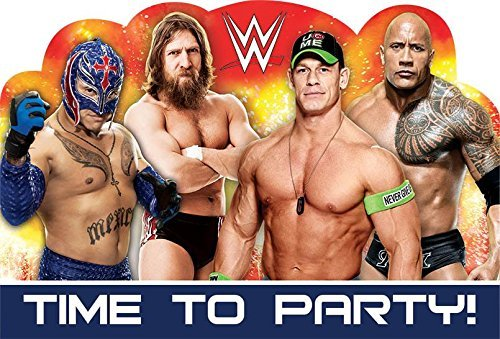 Amscan WWE Invitations (8 Pack) - Party Supplies]()