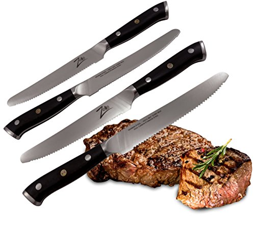 ZELITE INFINITY Steak Knives Set - German High Carbon Stainless Steel 5.5