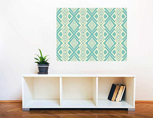 Removable Wall Sticker Wall Mural Ethnic Geometric Seamless Pattern Creative Window View Wall Decor