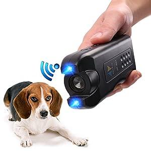 APlus+ Handheld Dog Repellent, Ultrasonic Infrared Dog Deterrent, Bark Stopper + Good Behavior Dog Training, Black