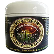 Silver Healing Gel (4 oz. jar). all natural with essential oils, healing herbs, trace minerals and 100%