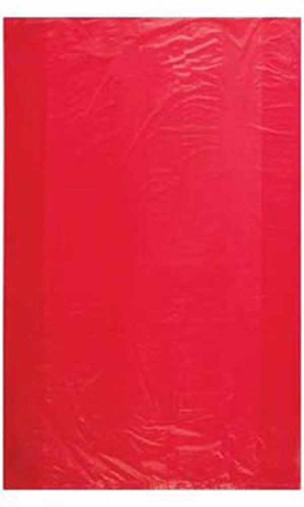 Jumbo High Density Red Plastic Bags - Case of 500