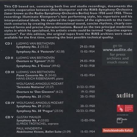 Las Grabaciones De La Rias-Klemperer-: Ludwig van Beethoven, Wolfgang Amadeus Mozart: Amazon.es: Música