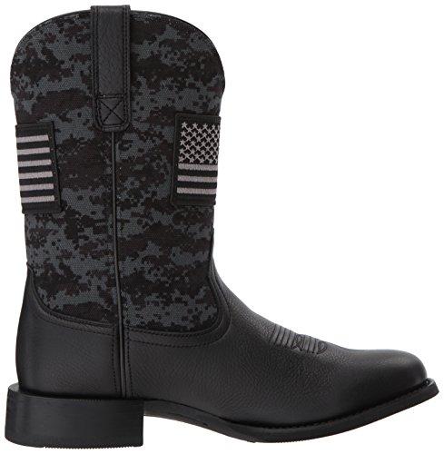Ariat Mens Sport Patriot Round Toe Western Boot Black Deer Tan/Black Camo Print aBjIg