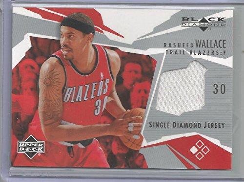 (2003 Upper Deck Black Basketball Rasheed Wallace Single Diamond Jersey Card)
