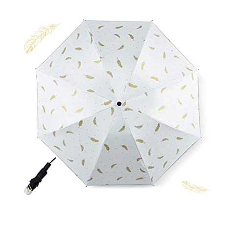 Paraguas a Prueba de Viento Mini Pluma Lluvia Mujeres ...