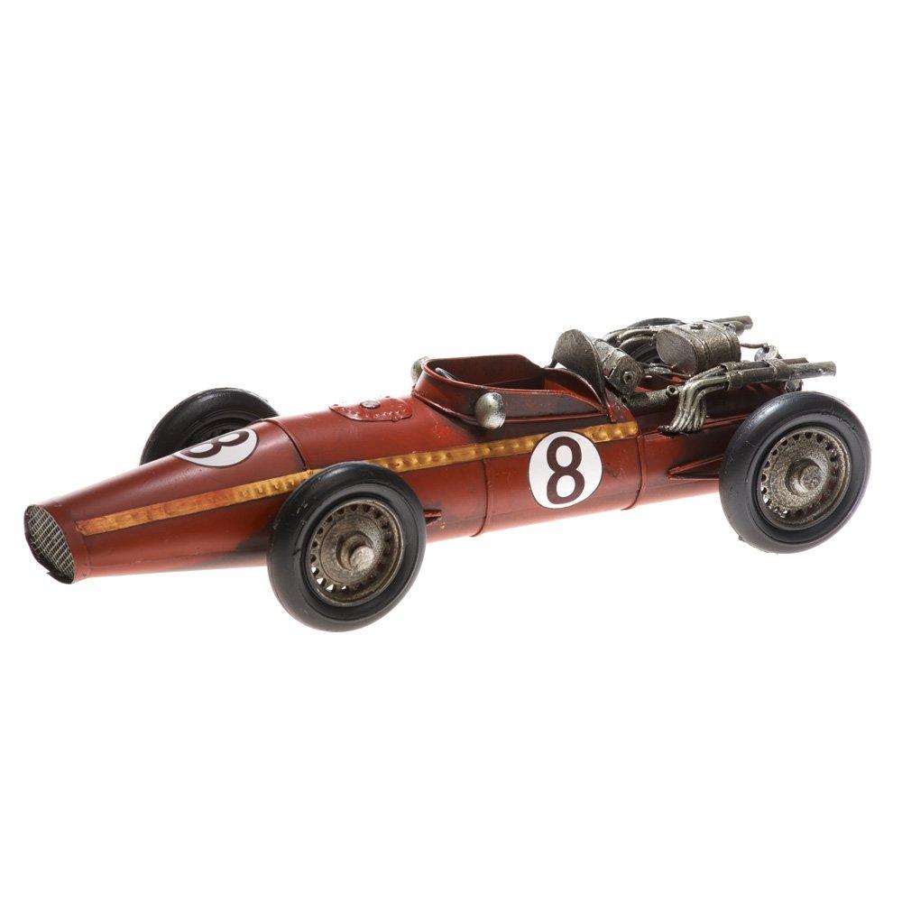 Rennwagen Antik-Vintage-Retro-Style rot Modellautos aus Blech