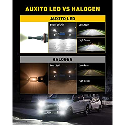 AUXITO H11 H8 H9 LED Headlight Bulbs 12000lm Per Set 6500K Cool White Wireless Headlight LED Bulb, Pack of 2: Automotive