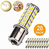 20 Pcs Extremely Super Bright 1156 1141 1003 BA15S 68-SMD LED Replacement Light Bulbs for RV Indoor Lights(20-Pack, Soft White (4000K-4500K Color Temputure))