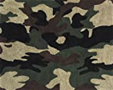 Green Camo Military Accent Floor Rug by Sweet Jojo Designs