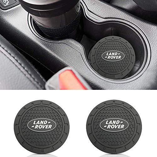 monochef Auto Sport 2.75 Inch Diameter Oval Tough Car Logo Vehicle Travel Auto Cup Holder Insert Coaster Can 2 Pcs Pack (Fit Land Ro ver) (2006 Range Rover Sport Supercharged For Sale)
