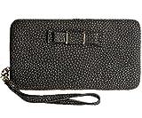 StyleZ Women Lady Leather Wallet Purse Long Handbag Clutch Bag Phone Card Holder (BLACK)