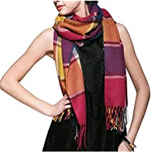 Crazy Cart Large Tartan Checked Plaid Scarf Shawl for Womens