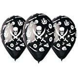 10 Ballons Noir PIRATE