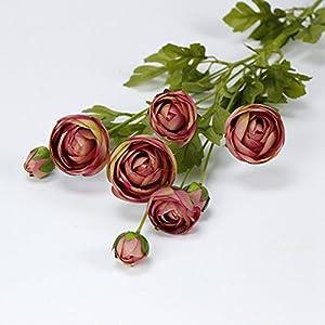ADSRO 8 Heads/Bouquet Fake Flowers Vintage Artificial Little Lotus Silk Flowers Wedding Home Decoration 65